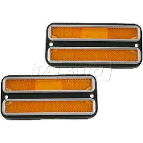 68-72 Chevy Pickup Truck Side Marker Yellow Front Pair