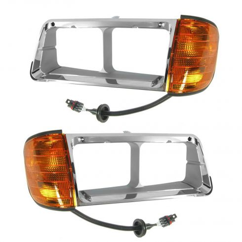Freightliner FLD CONV 89-02 BEZEL & SIGNAL LAMP ASY PAIR