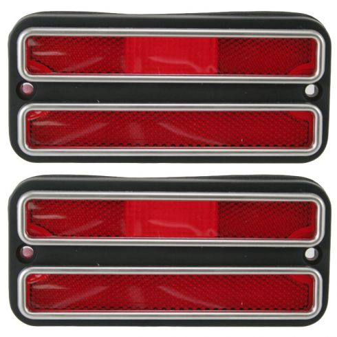 68-72 Chevy PU Truck Side Marker Red PAIR