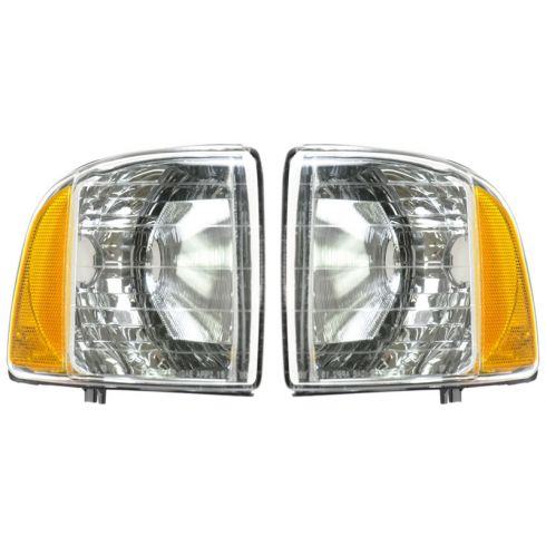 99-01 Dodge Ram 1500; 99-02 2500 3500 Sport Models Corner Parking Light PAIR