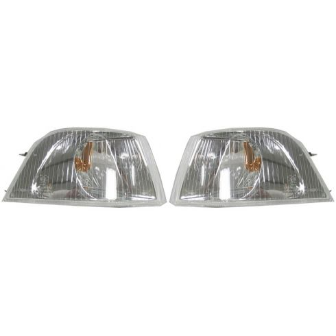 01-04 Volvo S40 Corner Parking Light w/Chrome Bezel PAIR