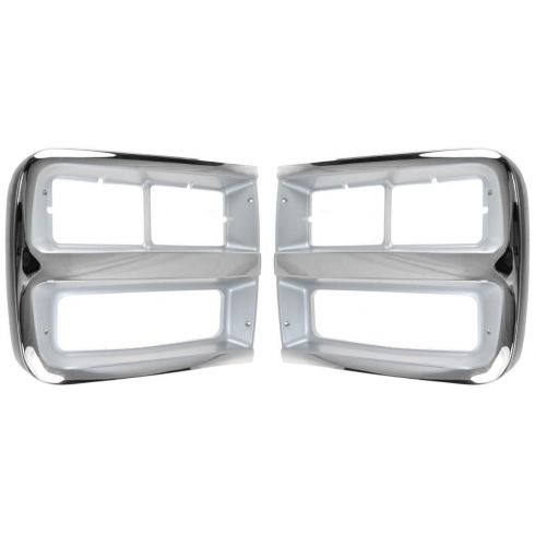 92-96 Chevy Van w/Dual Headlights Headlight Bezel/Trim PAIR