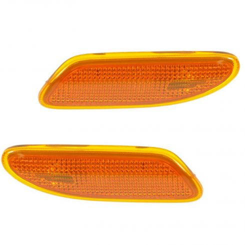 01-07 Mercedes Benz C-Class Front Side Marker Light (Bumper Mtd) PAIR
