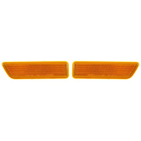 2002-03 Mitsubishi Lancer Front Bumper Yellow Reflector / Side Marker PAIR