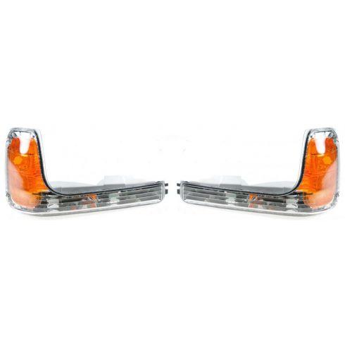 1999-00 Cadillac Escalade; 99 GMC Yukon w/Comp HL; 00 Yukon Denali Corner Parking Light PAIR