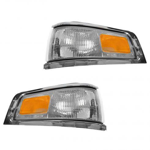 95-97 Lincoln Towncar Corner Parking Light (w/o Emblem) PAIR