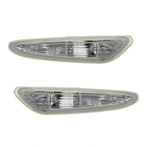 02-05 BMW 320i 325i 330i Sdn & Wgn Side Repeater Clear Light PAIR