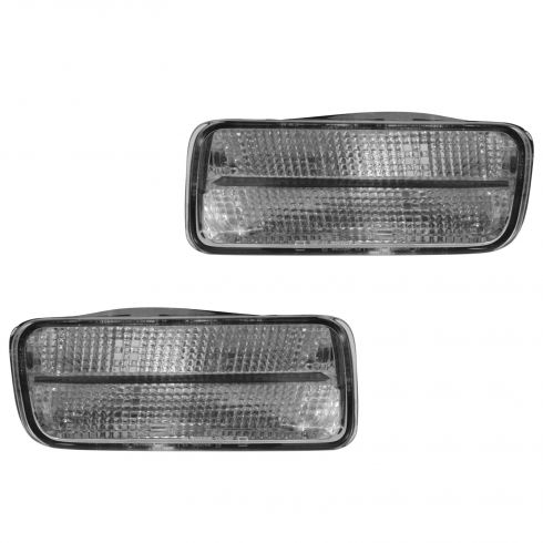 85-87 Chevy Camaro IROC-Z, Z28; 88-92 Camaro Front Bumper Mounted Parking Turn Signal Light PAIR(GM)