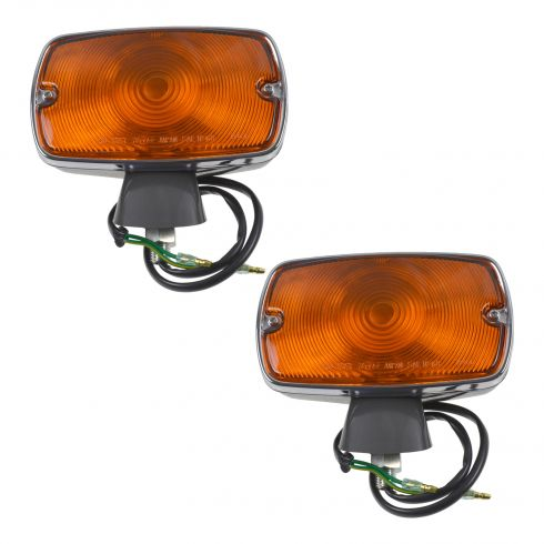 70 (frm 7/70)-74 Toyota FJ40 Land Cruiser Fender Mounted Turn Signal Light Assembly PAIR (Toyota)