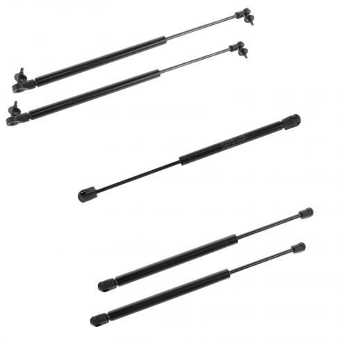05-10 Jeep Grand Cherokee Hood, Hatch, and Glass Lift Support (Set of 5)