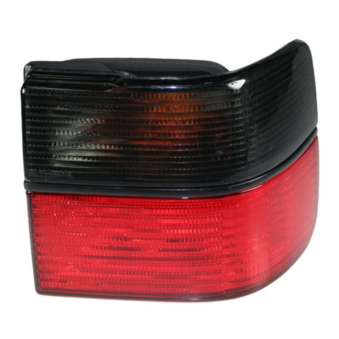 1993-99 VW Volkswagen Jetta Red & Smoked Qtr Mnt Tail Light RH