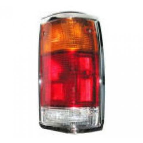 1986-93 Mazda Pick Up Tail Light with Chrome Trim Passenger Side