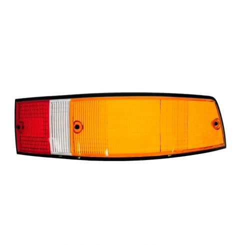 70-89 Porsche 911; 66-69, 76 912 Red, Yellow, White w/Black Trim Taillight Lens RH