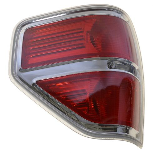 09-14 Ford F150 Styleside Taillight w/Chrome Bezel LH (Ford)