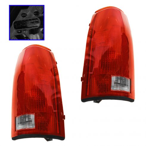 88-98 Chevy GMC Truck Suburban Tahoe Jimmy Taillights with Circuit Boards PAIR