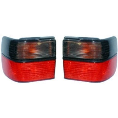 93-99 Jetta Red & Smoke Taillight Pair