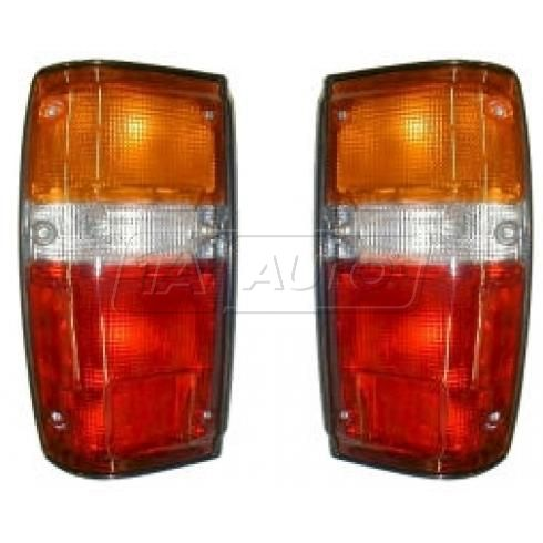 1984-89 Toyota 4Runner Taillight (with black trim) Pair