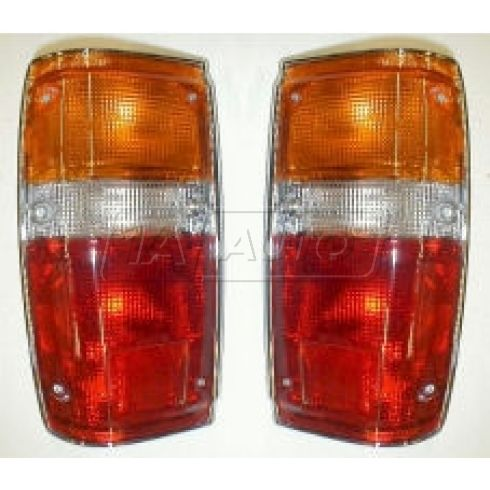 1984-89 Taillight (with wires & chrome trim) Pair