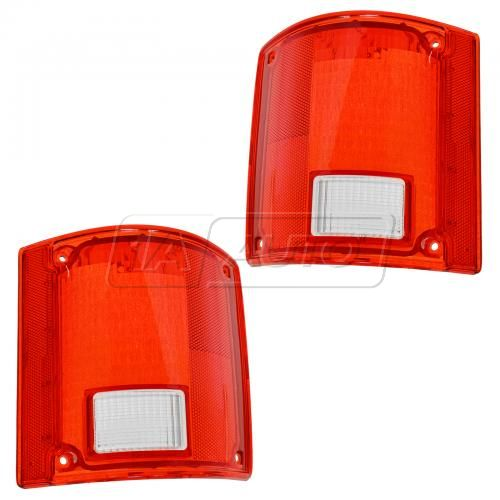 73-91 GM truckTaillight Lens w/o Chrm Trim Pair