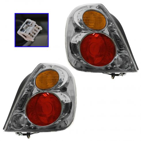 02-04 Nissan Altima Tail Light Pair