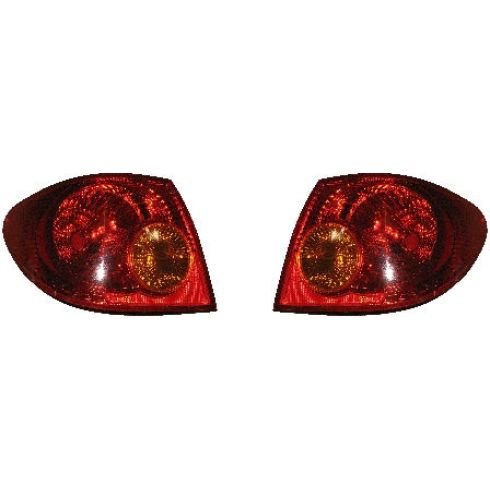 2003-04 Toyota Corolla Tail Light Pair