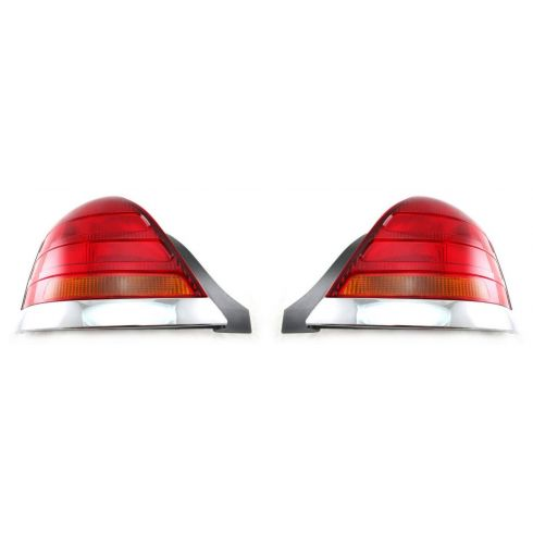 1998-03 Crown Victoria Red & Amber Taillight Pair