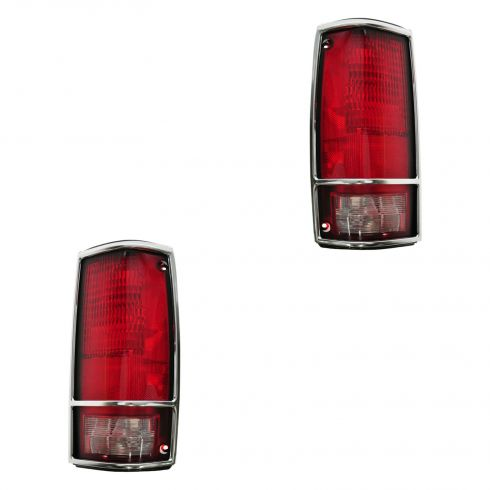 1982-93 Chevy S10 Tail Light W/CHR BZL Pair
