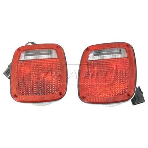 1987-06 Jeep Wrangler Tail Light Pair