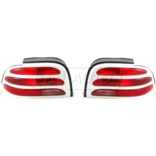 Tail Light Driver Side with White Trim