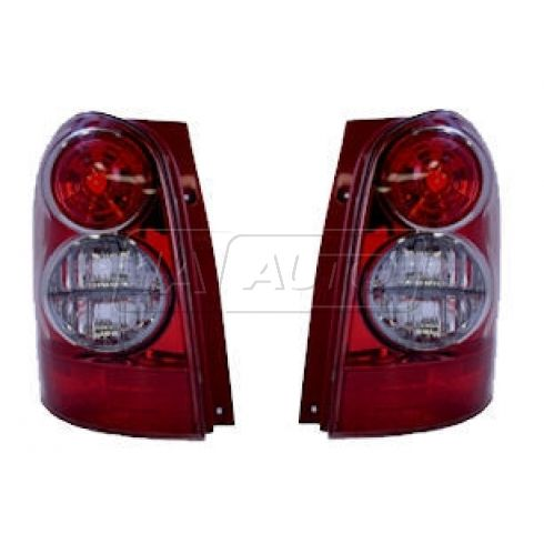Tail Light Driver Side With Red Bezel