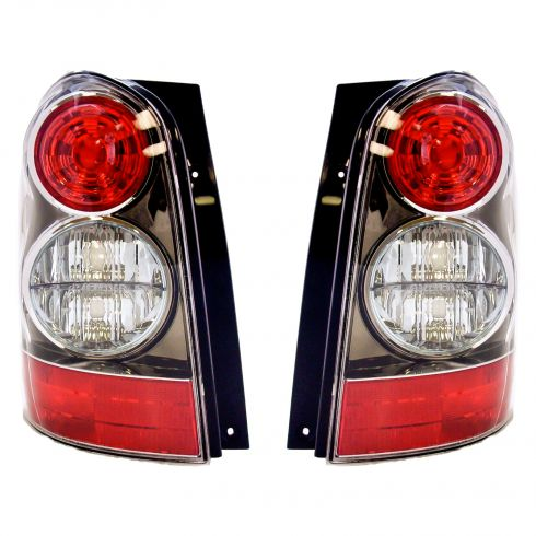 Tail Light Driver Side With Black Bezel