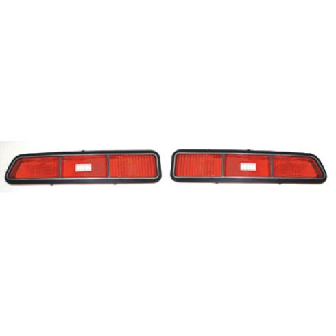 69 Chevy Camaro Tail Light Lens for standard model Pair