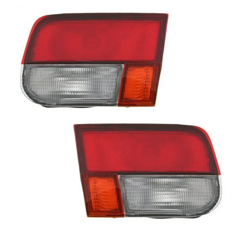96-98 Honda Civic Tail Light Trunk Mounted Pair