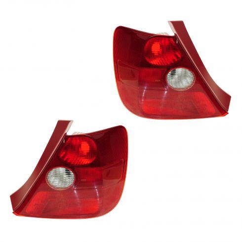 02-03 Honda Civic Tail Light Pair for Hatchback
