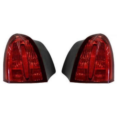 98-02 Lincoln Towncar 1/4 Panel MTD Taillight (w/o Emblem) Pair