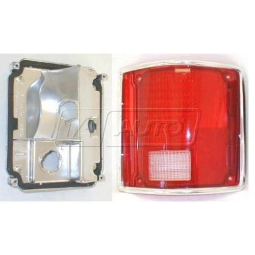 1973-91 Jimmy Taillight Housing & Lens w/Chrome Trim RH