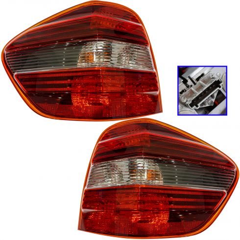 2006-10 Mercedes ML Class Taillight (w/Smoked Lens) PAIR