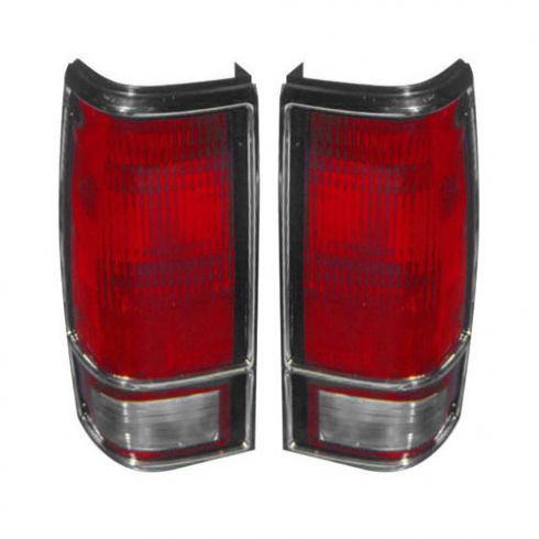 1983-94 S10 Blazer S15 Jimmy Taillight (w/Chrome Bezel) PAIR