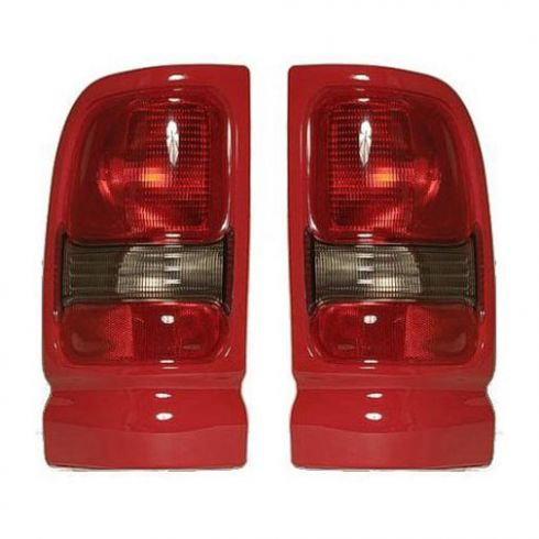 1994-02 Dodge Ram Sport PU Taillight w/Red Bezel PAIR