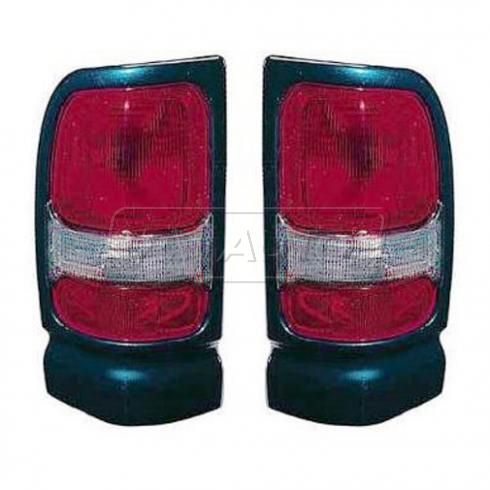 94-98 Dodge Ram Sport PU Taillight w/Emerald Green Bezel PAIR