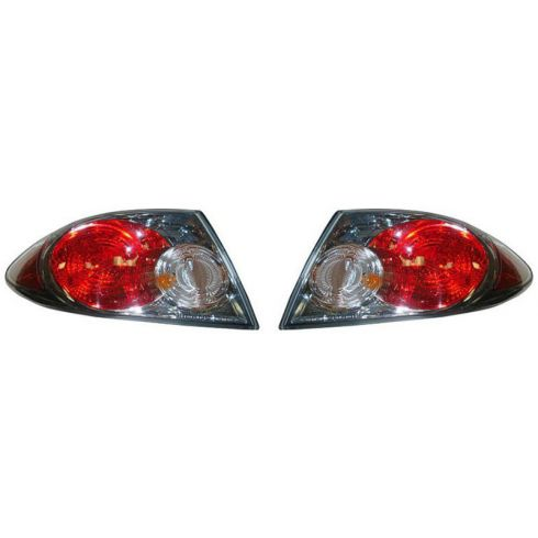 2006-08 Mazda 6 Outer Taillight (w/Chrome Background) PAIR