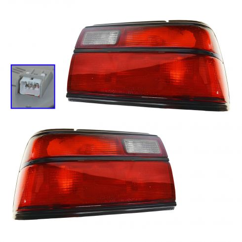 88-92 Toyota Corolla SDN (w/All Red) Taillight PAIR