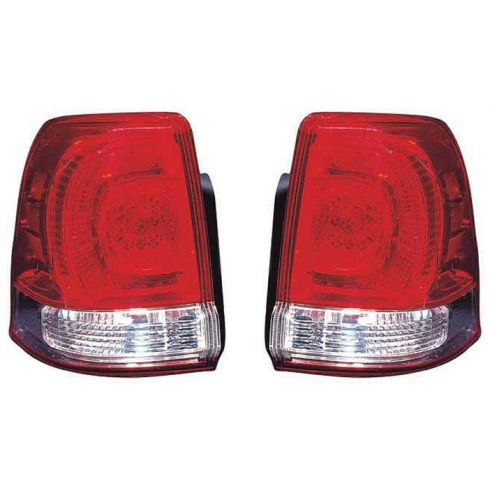2008-10 Toyota Land Cruiser Outer Taillight PAIR