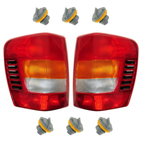 99-03 Grand Cherokee Taillight PAIR & Socket Kit