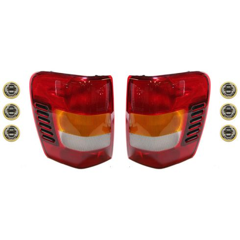 (11/1/02-04) Jeep Grand Cherokee Taillight & Socket Kit PAIR