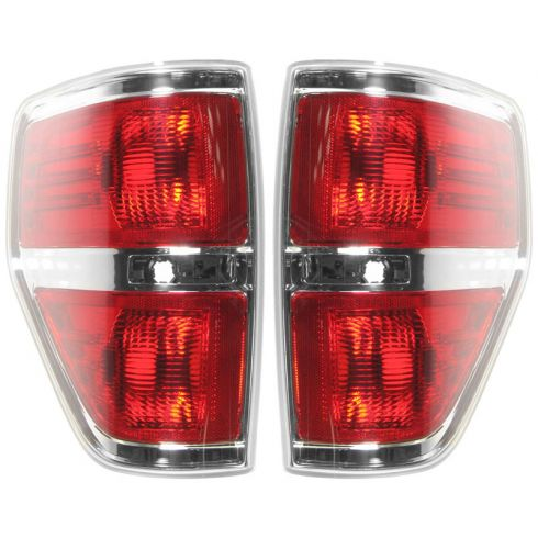 09-11 Ford F150 Styleside Taillight w/Chrome Edge PAIR