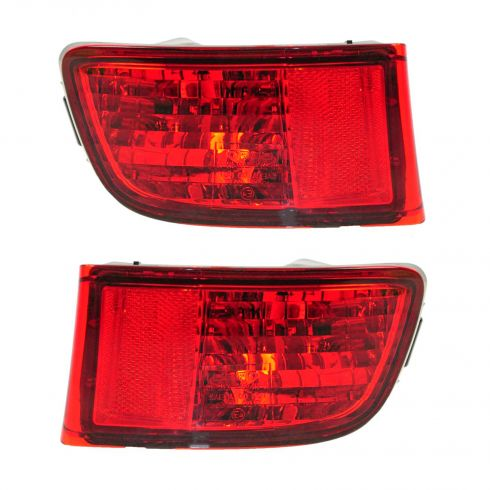03-05 Toyota 4Runner Rear Bumper Reflector Red PAIR