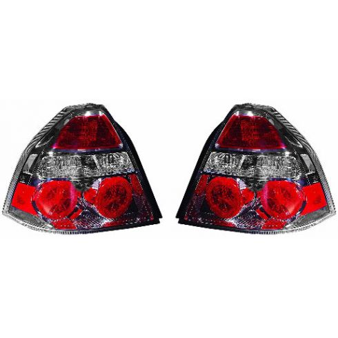 07-10 Chevy Aveo 4 DR Sedan Taillight PAIR
