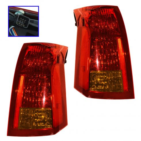 07-10 GMC Sierra Fleetside Taillight PAIR
