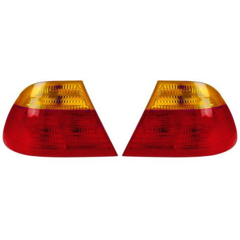 99-03 BMW 3 Series 2DR Coupe Outer Taillight w/Amber PAIR